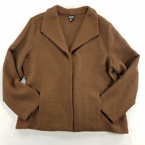 Eileen Fisher Jacket Blazer Knit Virgin Wool